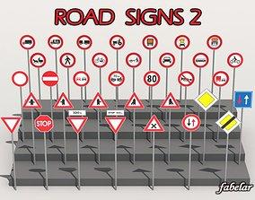 Road signs 2 3D model