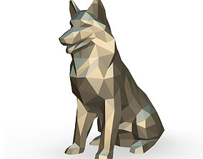 3D printable model Shetland Shepherd low poly
