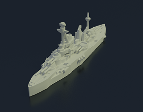 3D printable model Battleship Coubert 1913