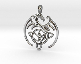 Dragon Celtic Knot Pendant 3D printable model