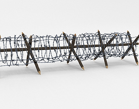 Low Poly Barb Wire Obstacle 3D model