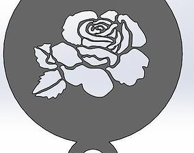Coffee Stencil - Rose 3D print model
