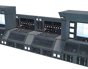 Computer Retro Super Machine PBR Electronics 3D model 4
