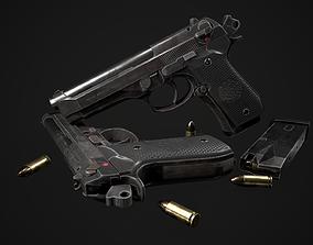 Beretta 92 FS lowpoly modle 3D model
