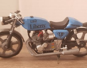 Cafe Racer 1to 24 scale 3D printable model