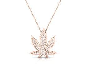 necklace Women flower pendant 3dm render detail