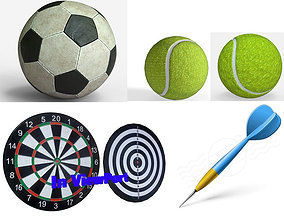 3D Sport equipments Collection - PBR Game-Ready