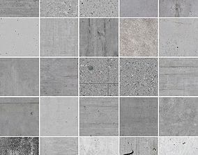 25 Seamless Concrete Textures 3D