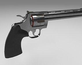 Colt Revolver Textured 3D asset