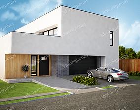 3D exterior garage House design