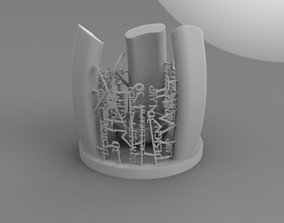 3D printable model calligraphy Candle stand