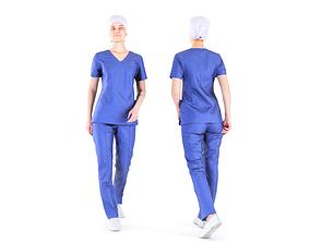 Surgical nurse 07 3D model