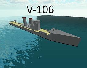 V-106 Imperial German torpedo boat 3D model