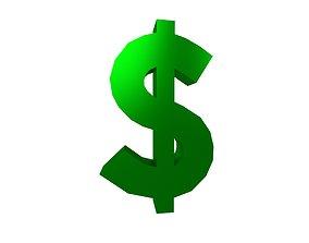 3D model Dollar Symbol v1 006