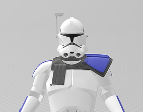 Star Wars Clone Wars Captain Rex Full 3D printable model