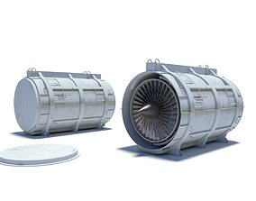 3D model turbofan container