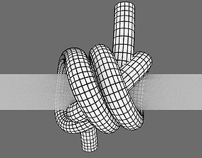 3D asset double constrictor knot