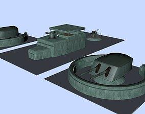 3D model Gun emplacement