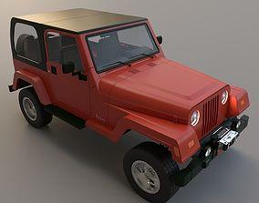 3D suv Jeep wrangler 1997