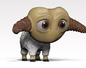 3D model animated cartoon sheep