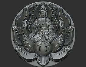 Kwanyin Bodhisattva oriental 3D print model