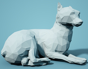 zoo Low Poly Dog Model