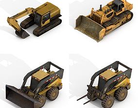 Construction Vehicles Pack 3D asset