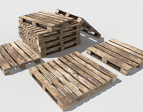 Industrial Wooden Pallet 3 3D model