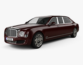 3D Bentley Mulsanne Grand Limousine Mulliner 2017