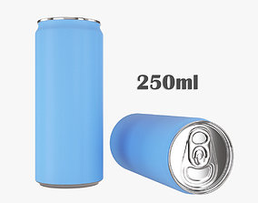 Beverage slim can 250ml 3D
