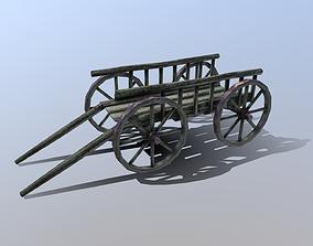 Medieval Cart 3D model realtime