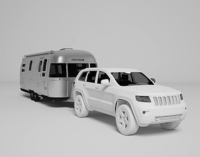 3D printable model Airstream Trailer Scale 1-18