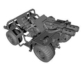 3D printable model Space quad