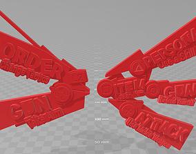 3D print model Persona 5 Battle Menu screen