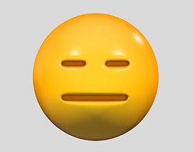 Emoji Expressionless Face faces 3D model