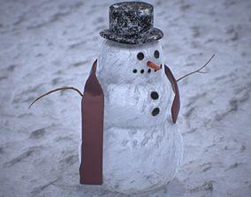 Snowman PBR 4K 3D model