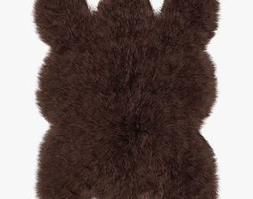 3D model Big brown bear rug