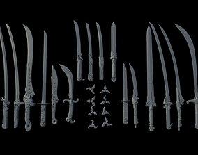 Overwatch Genji weapon pack 3D printable model