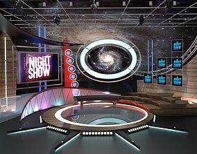 3D Virtual TV Studio Talkshow 1