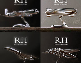 3D model RH AIRCRAFTS DECORATION SET OF 4
