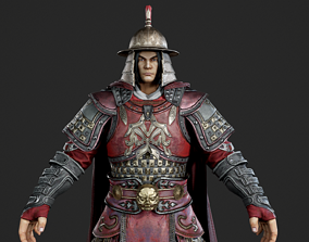Ancient Chinese general armor Generals of Ming 3D model 1