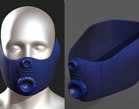 low-poly Gas mask helmet 3d model scifi Low-poly
