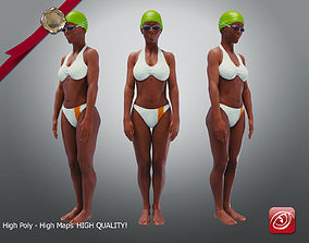 SwimmingpoolgirlBCasualC 3D model