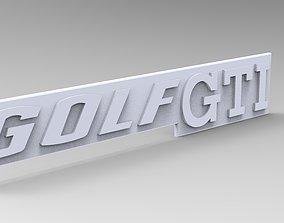 Golf GTI monogramme 3D print model