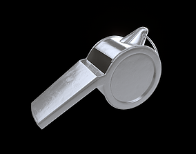 3D model PBR high quality Referee whistle