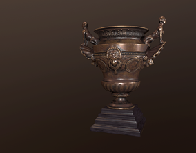 19th Century French Bronze Urn 3D
