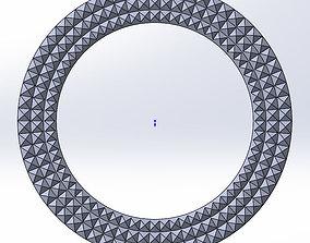 round frame 3D printable model decorate