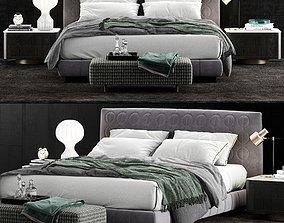 Minotti Curtis Bed 2 3D model
