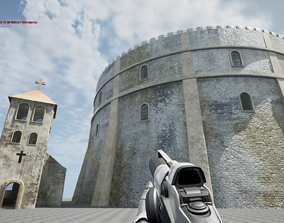 Castle and Church 3D