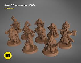3D print model Dwarf Commando - DnD Set